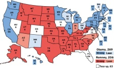 2012 electoral map